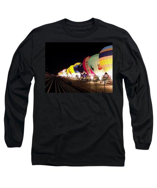 Balloon Glow Long Sleeve T-Shirt by John Swartz