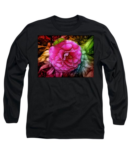 Hot And Silky Pink Rose Long Sleeve T-Shirt by Lilia D
