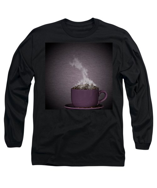 Long Sleeve T-Shirt featuring the photograph Hot Coffee by Gert Lavsen