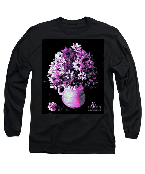Hot Pink Flowers Long Sleeve T-Shirt
