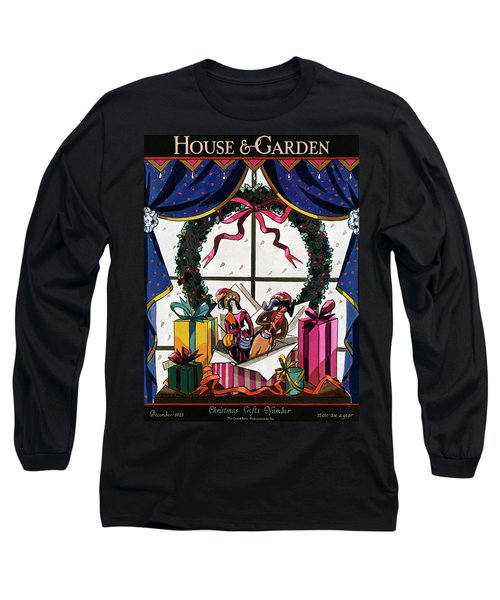 House & Garden Cover Illustration Of Christmas Long Sleeve T-Shirt