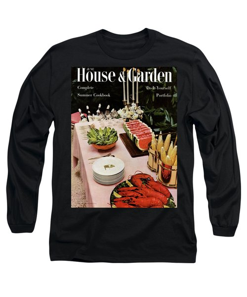 House And Garden Cover Featuring A Buffet Table Long Sleeve T-Shirt