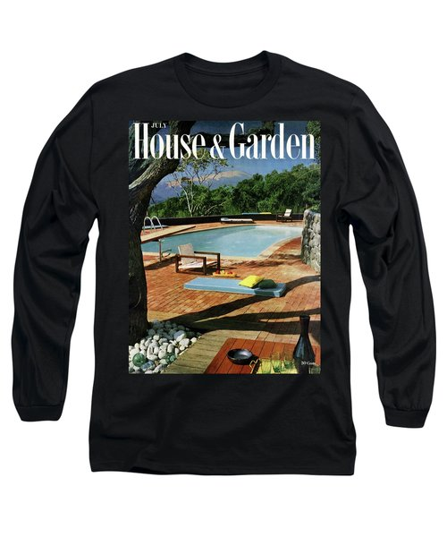 House And Garden Cover Featuring A Terrace Long Sleeve T-Shirt