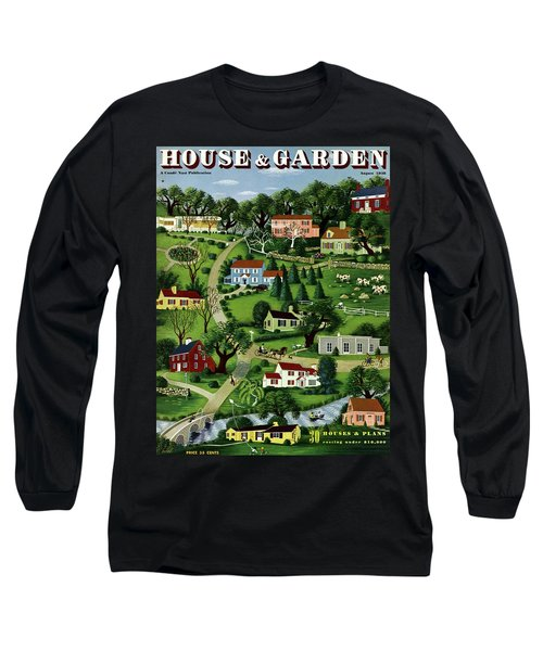 House And Garden Cover Featuring An Illustration Long Sleeve T-Shirt