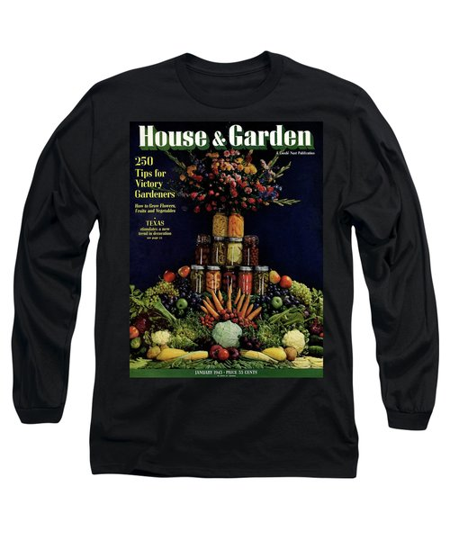 House And Garden Cover Featuring Fruit Long Sleeve T-Shirt