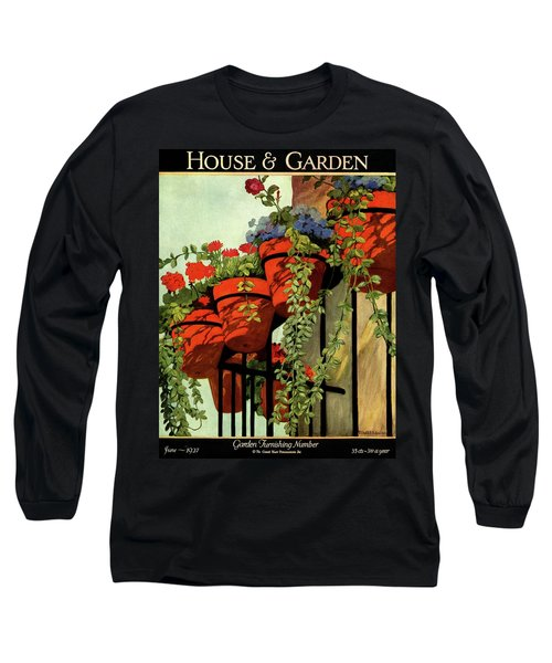 House And Garden Garden Furnishing Number Cover Long Sleeve T-Shirt