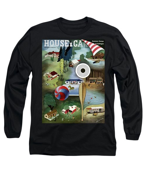 House And Garden Summer Camps And Cottages Cover Long Sleeve T-Shirt