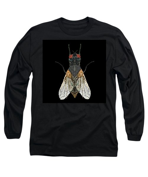 House Fly Bedazzled Long Sleeve T-Shirt