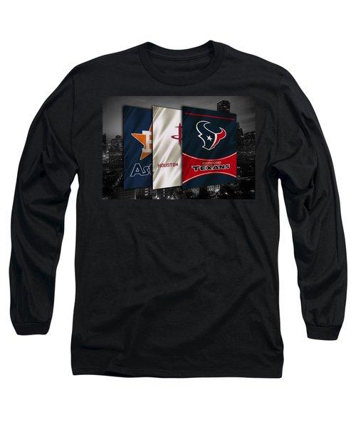 Houston Sports Teams Long Sleeve T-Shirt