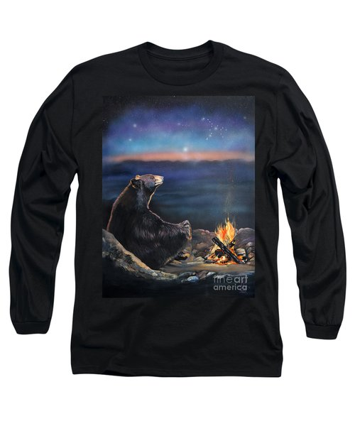How Grandfather Bear Created The Stars Long Sleeve T-Shirt by J W Baker