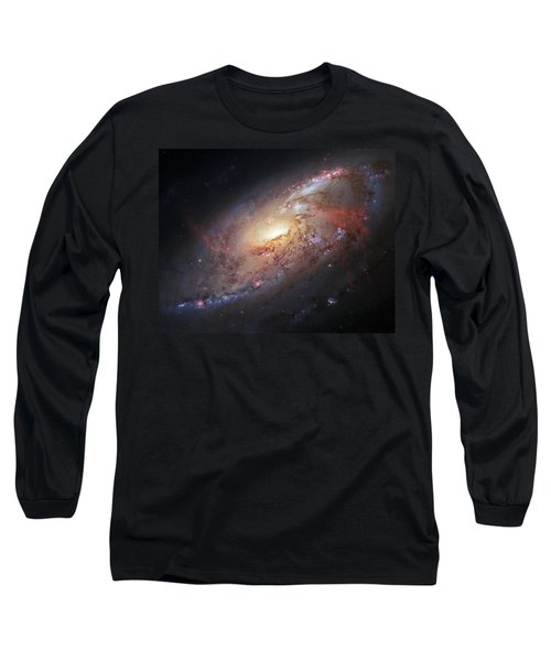 Hubble View Of M 106 Long Sleeve T-Shirt