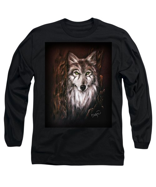 Hunter In The Night Long Sleeve T-Shirt by Patricia Lintner