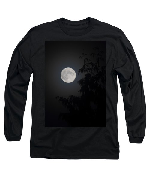 Hunters Moon Long Sleeve T-Shirt by Randy Hall