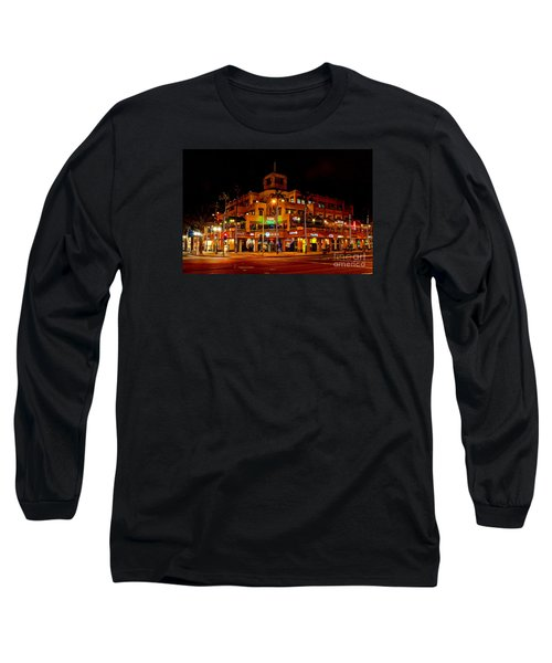 Long Sleeve T-Shirt featuring the photograph Huntington Beach Downtown Nightside 1 by Jim Carrell