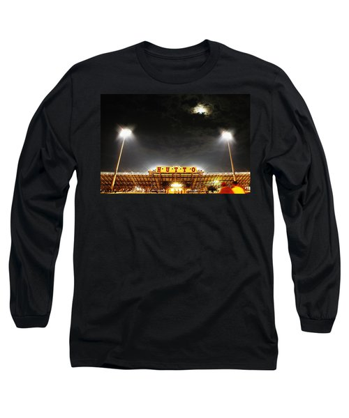 Hutto Hippo Stadium Long Sleeve T-Shirt by Trish Mistric