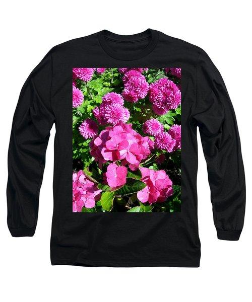 Hydrangea And Mums  Long Sleeve T-Shirt