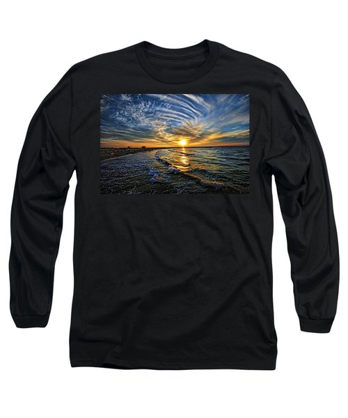 Hypnotic Sunset At Israel Long Sleeve T-Shirt