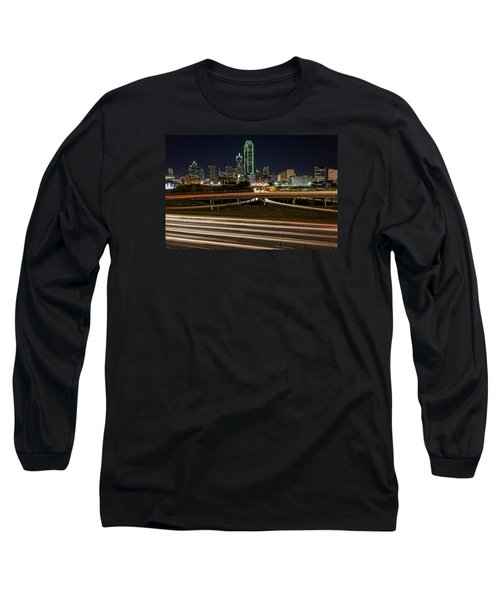 I-35e Dallas Long Sleeve T-Shirt by Rick Berk
