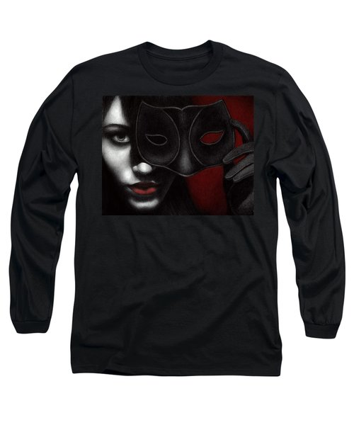 Long Sleeve T-Shirt featuring the painting I Am Only What I Allow You To See by Pat Erickson