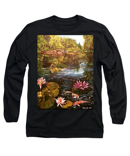 Long Sleeve T-Shirt featuring the painting I Want To Be Where You Are by Belinda Low