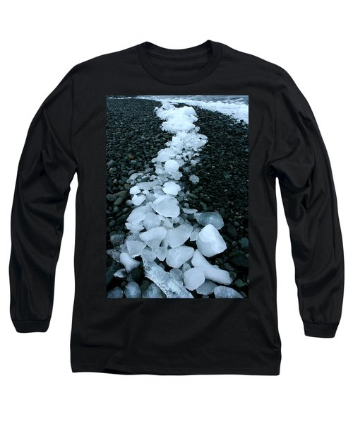 Long Sleeve T-Shirt featuring the photograph Ice Pebbles by Amanda Stadther