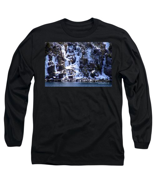Icicle House Long Sleeve T-Shirt by Barbara Griffin