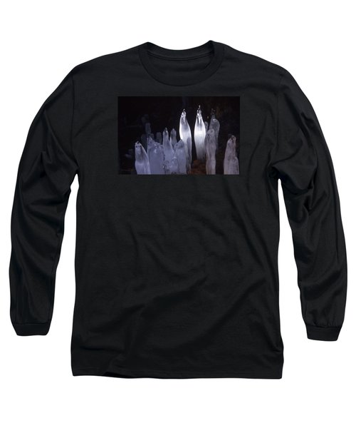 Icicles In A Cave Long Sleeve T-Shirt