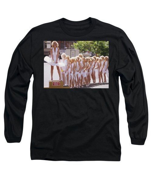 Iconic Marilyn Long Sleeve T-Shirt by Shaun Higson