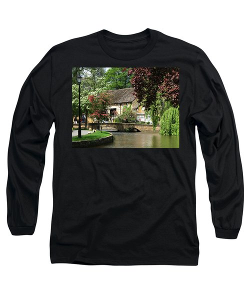 Idyllic Village Scene Long Sleeve T-Shirt
