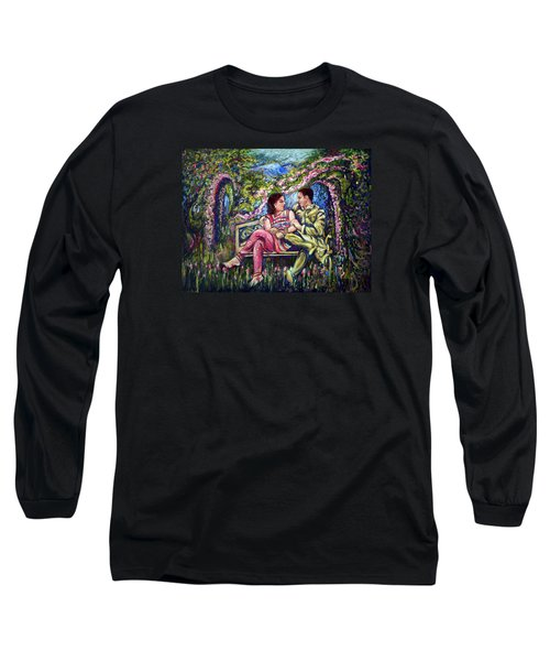 Long Sleeve T-Shirt featuring the painting If I Will Get Your Love by Harsh Malik