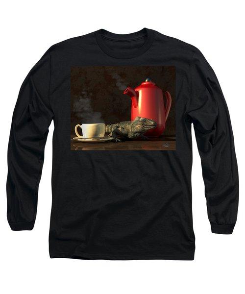 Iguana Coffee Long Sleeve T-Shirt