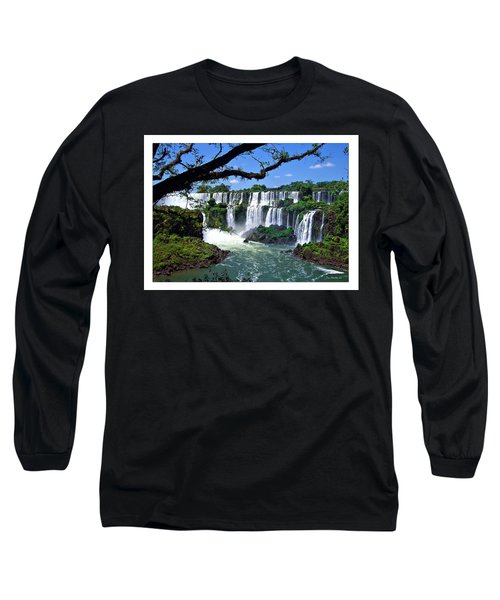 Iguazu Falls In Argentina Long Sleeve T-Shirt by Joan  Minchak