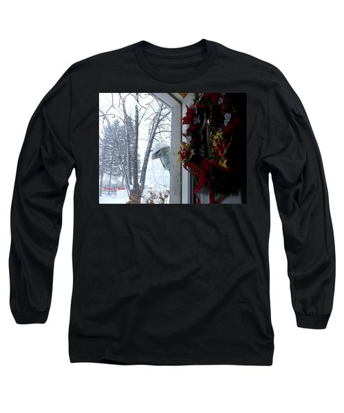 Long Sleeve T-Shirt featuring the photograph I'll Be Home For Christmas by Shana Rowe Jackson