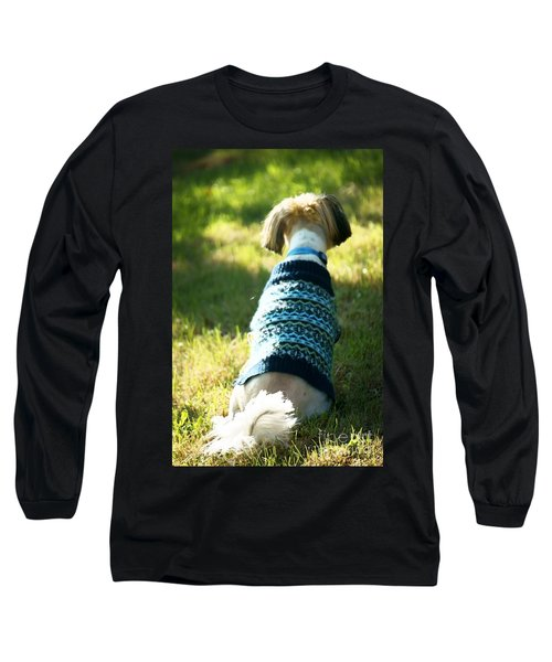 Long Sleeve T-Shirt featuring the photograph I'll Be Waiting For You by Ellen Cotton