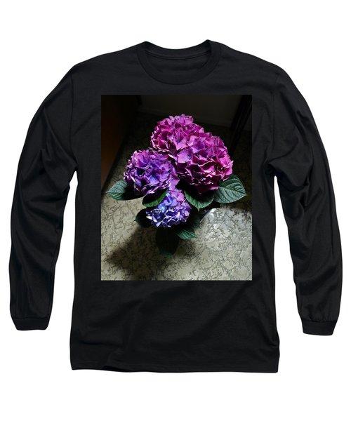 Illuminated Hydrangea Long Sleeve T-Shirt