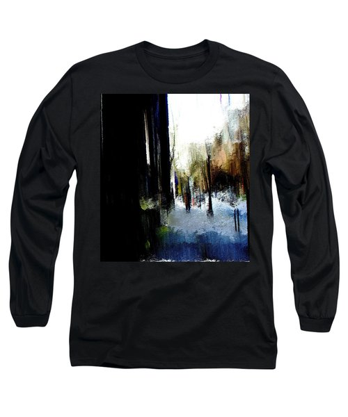 Long Sleeve T-Shirt featuring the mixed media Impending Gloom by Terence Morrissey