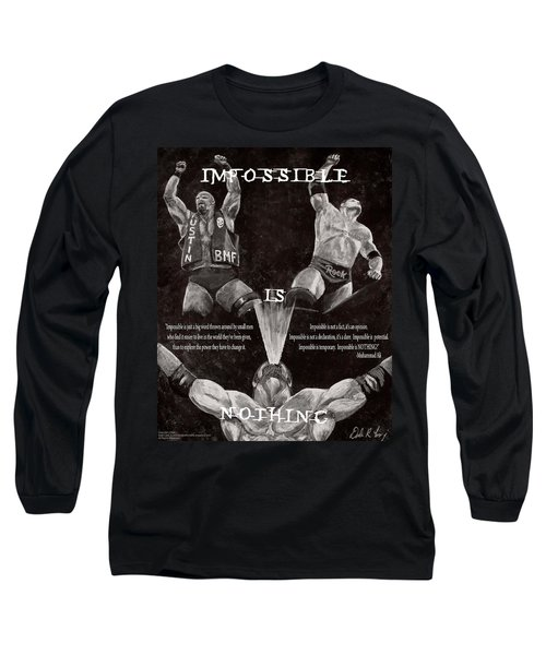 Impossible Is Nothing Long Sleeve T-Shirt