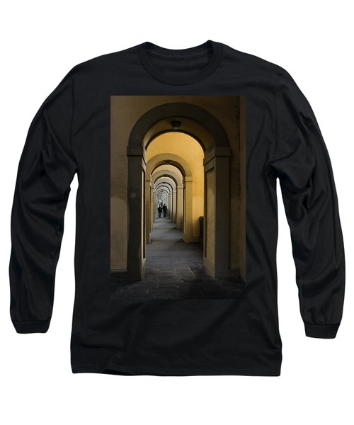 In A Distance - Vasari Corridor In Florence Italy  Long Sleeve T-Shirt