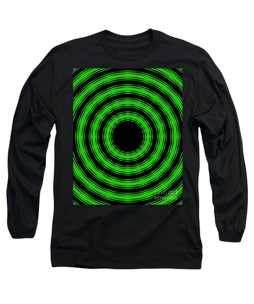 Long Sleeve T-Shirt featuring the painting In Circles-green Version by Roz Abellera Art