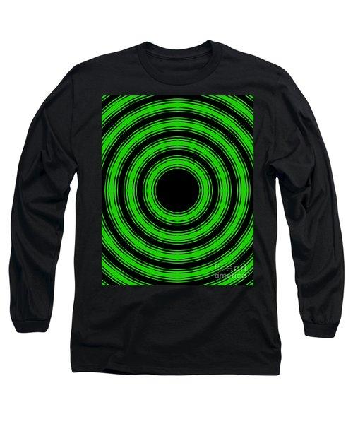 In Circles-green Version Long Sleeve T-Shirt by Roz Abellera Art