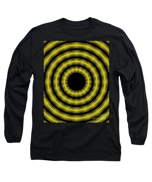 Long Sleeve T-Shirt featuring the painting In Circles- Yellow Version by Roz Abellera Art