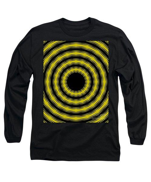 In Circles- Yellow Version Long Sleeve T-Shirt by Roz Abellera Art