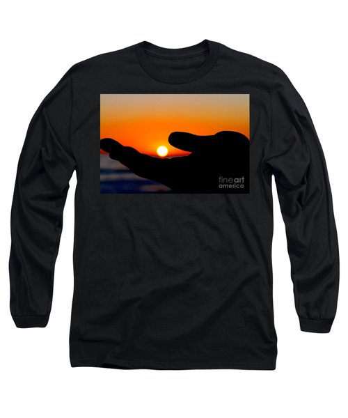 In His Hands By Diana Sainz Long Sleeve T-Shirt
