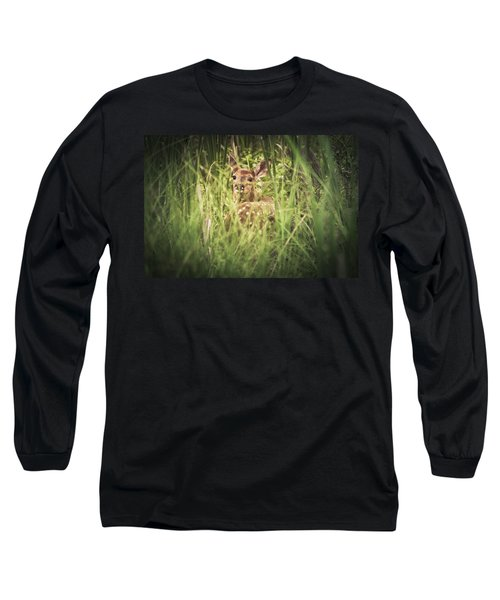 In The Tall Grass Long Sleeve T-Shirt by Shane Holsclaw
