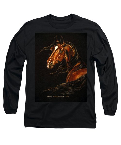 Long Sleeve T-Shirt featuring the painting In The Wind by Leena Pekkalainen