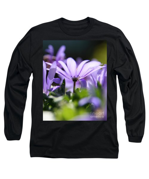 Floral Purple Light  Long Sleeve T-Shirt