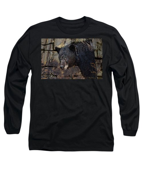 Inconspicuous Bear Long Sleeve T-Shirt by Ed Hall