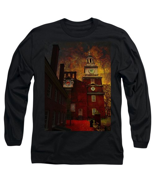 Independence Hall Philadelphia Let Freedom Ring Long Sleeve T-Shirt by Jeff Burgess