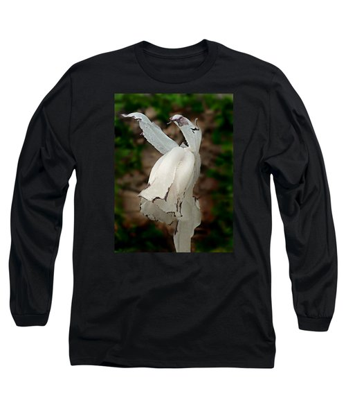 Indian Pipe Long Sleeve T-Shirt by William Tanneberger