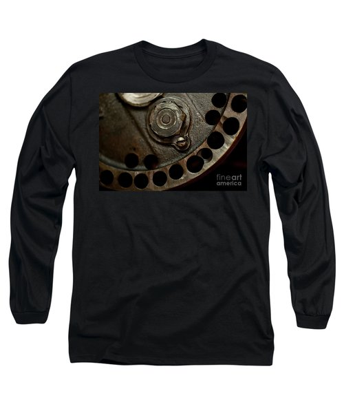 Indian Racer Crankshaft Fly Wheel Long Sleeve T-Shirt by Wilma  Birdwell